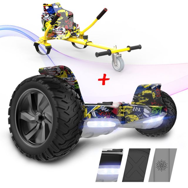 "Evercross - EVERCROSS Hoverboard Overboard Gyropode Tout Terrain 8.5"""",Self-Balancing Scooter Hummer SUV, 700W Hip-Hop+Hoverkart Hip-Hop - Gyropode, Hoverboard"