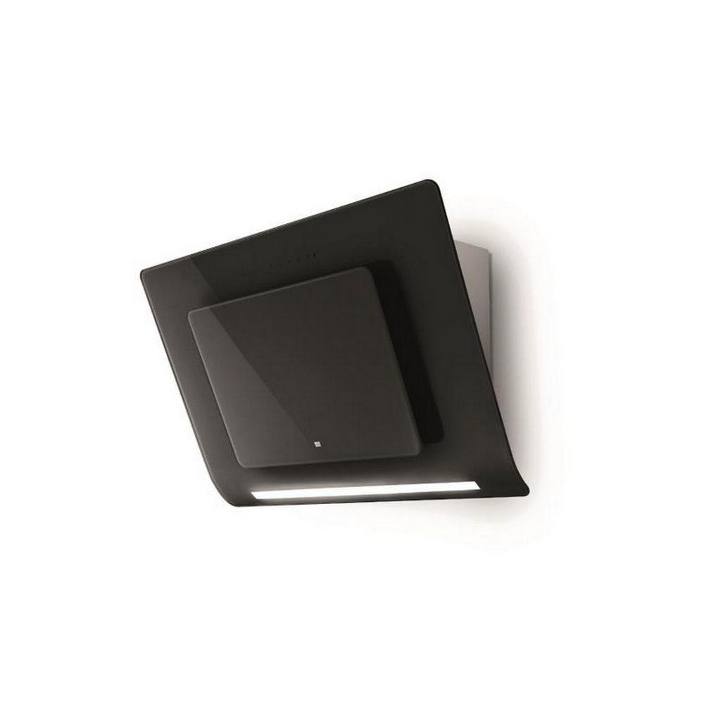 Roblin roblin - hotte décorative inclinée 80cm 720m3/h noir/verre - 5038012