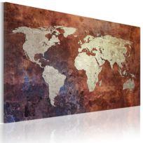 Bimago   Tableau   Carte Du Monde Dorée