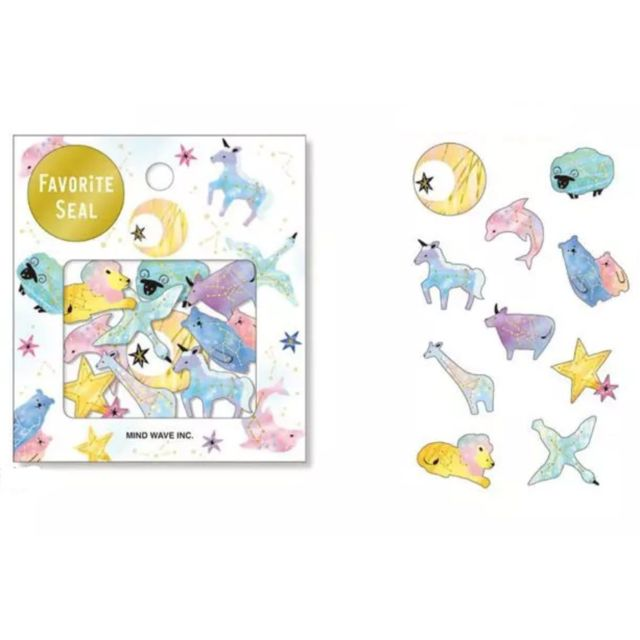 marque generique - 70pcs Jeu Magic Galaxy Animaux de la Constellation de Papier de bande - Papier