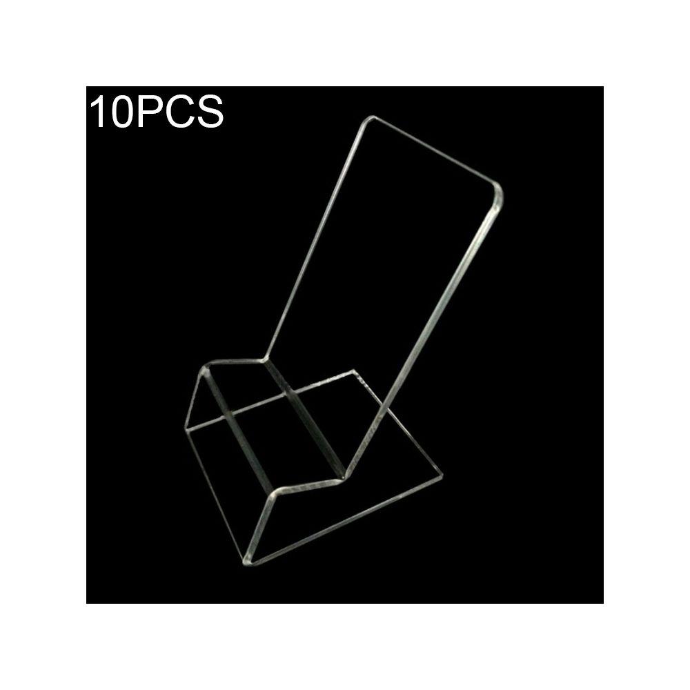 Wewoo Support de support d'affichage de téléphone portable acrylique de 10 PCS, pour iPhone, Samsung, Huawei, Xiaomi autres Sm