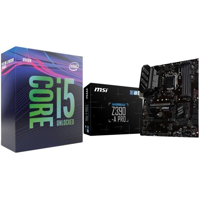 Intel - Core i5 9600K - 3,7/4,6 GHz + Intel Z390 PRO - ATX - Kit d'évolution Intel