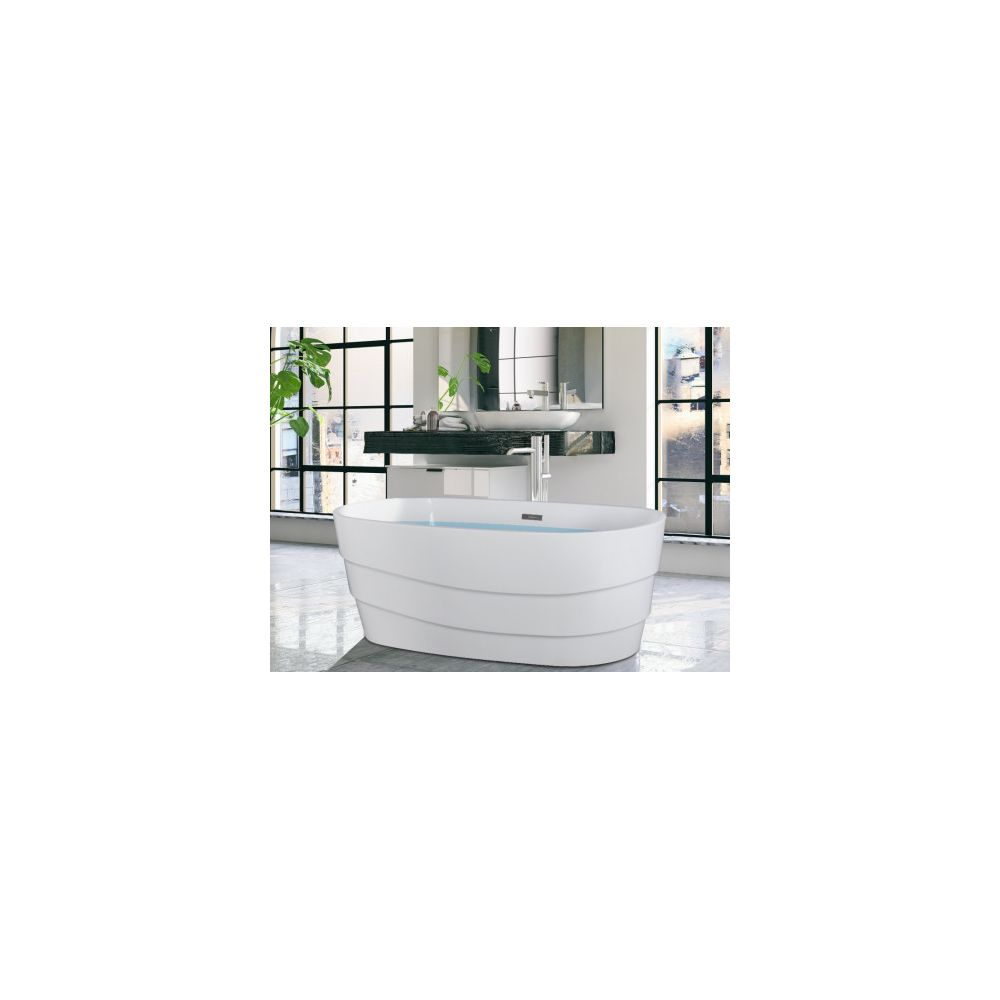 Shower Design Baignoire Ilot Design Dominika 200l 150 72 58 Cm Blanche Baignoire Rue Du Commerce