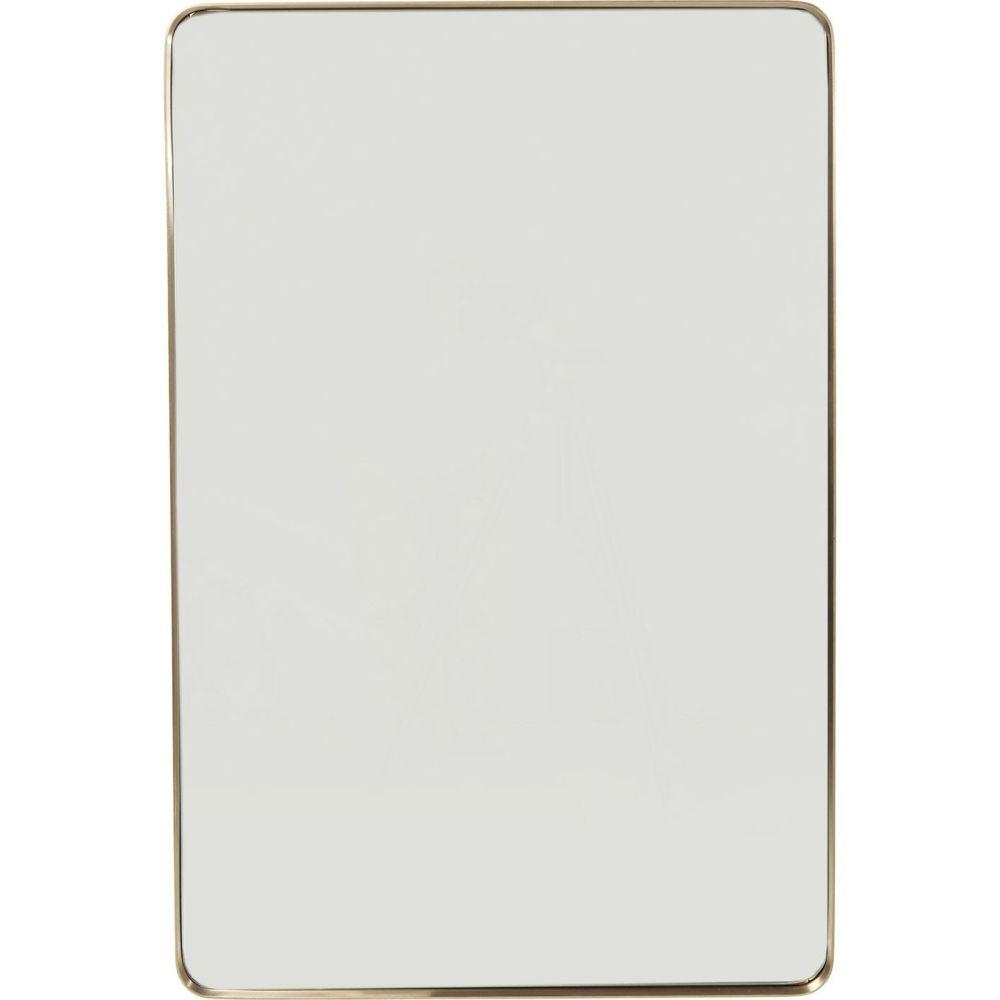 Karedesign Miroir Curve rectangulaire laiton 120x80cm Kare Design