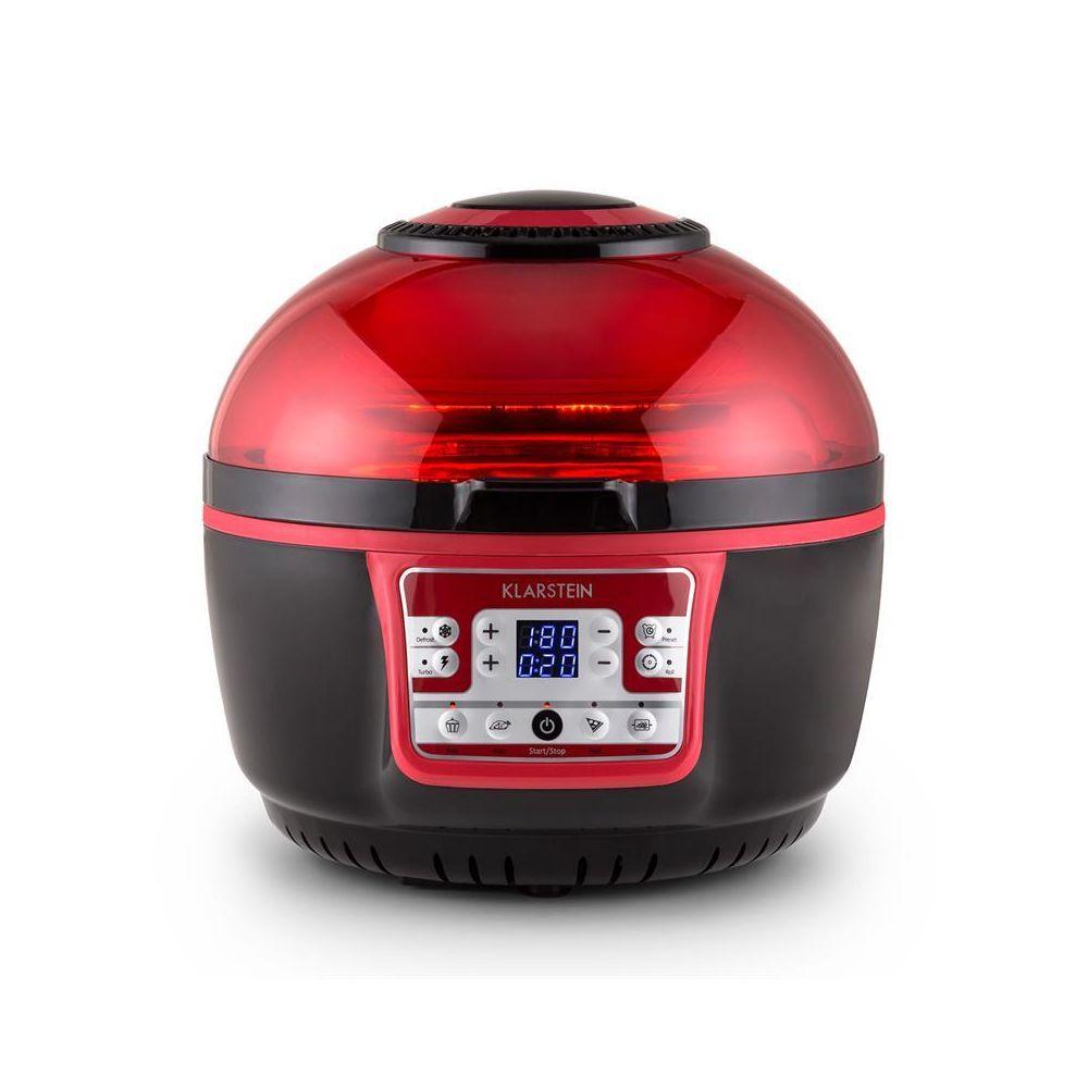 Klarstein Klarstein VitAir Turbo friteuse à air chaud 1400W grill cuisson 9L - rouge/noir Klarstein