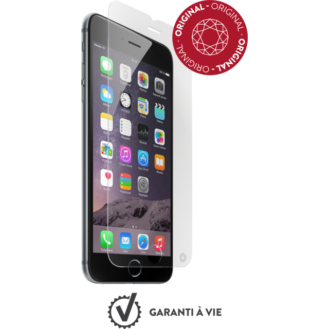 Force Glass - Verre trempé iPhone 6s - Transparent - Protection écran smartphone
