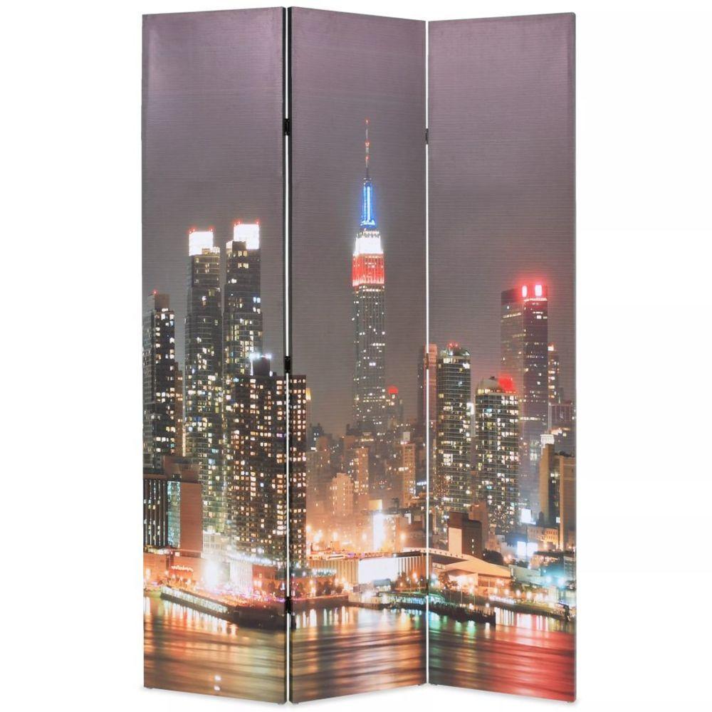 Vidaxl Cloison de séparation pliable 120x180 cm New York la nuit - Séparateurs de pièces - Meubles   Multicolore   Multicolore