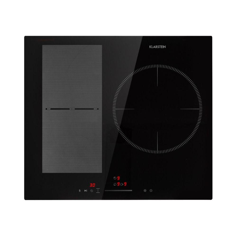 Klarstein Klarstein Delicatessa 3 Flex Table de cuisson à induction 3 zones - Puissance de 6600W max. - Flexzone - Panneau de comm