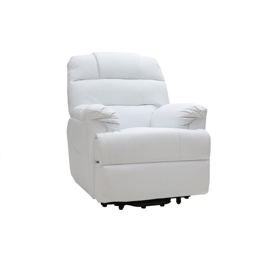 Miliboo Fauteuil relax électrique releveur blanc PHOEBE