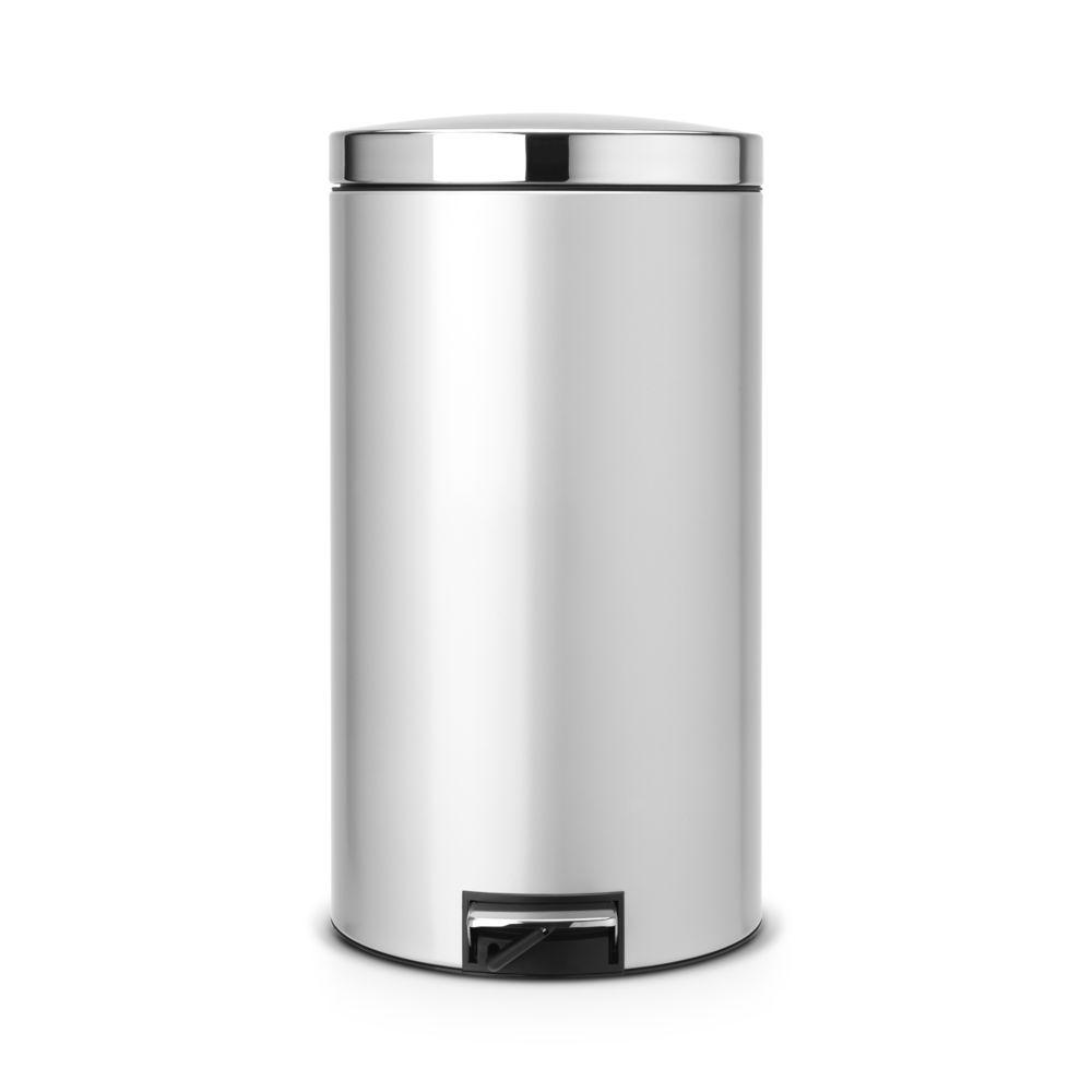 BRABANTIA Poubelle à Pédale Silent, 45L - Metallic Grey