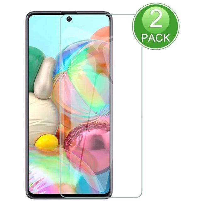 Ipomcase -Film Protection d'écran (Lot de 2) en vitre verre trempé pour Samsung Galaxy A71 -Transparent Ipomcase  - Protection écran tablette