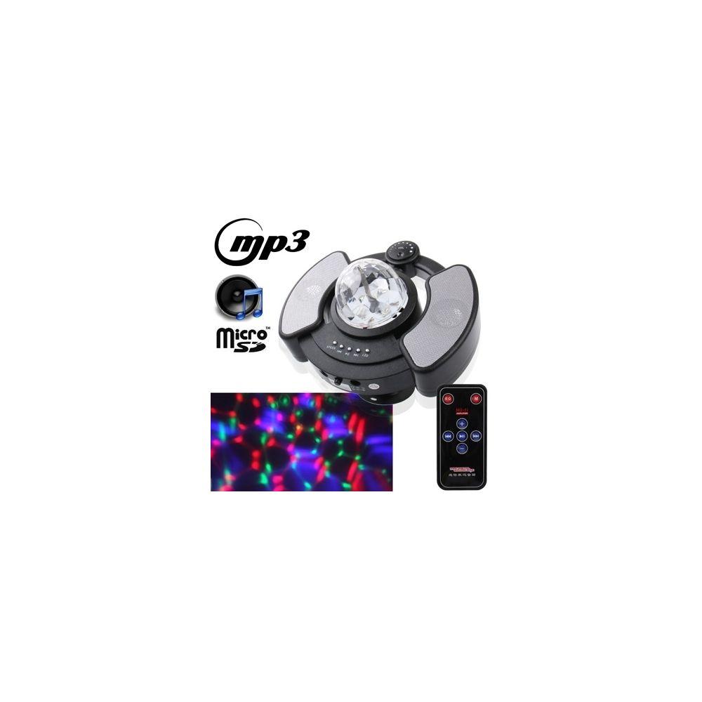 Wewoo LED Boule à facette noir Ampoule magique multifonctionnelle de cristal de RVB avec la fonction de lecteur de musique de