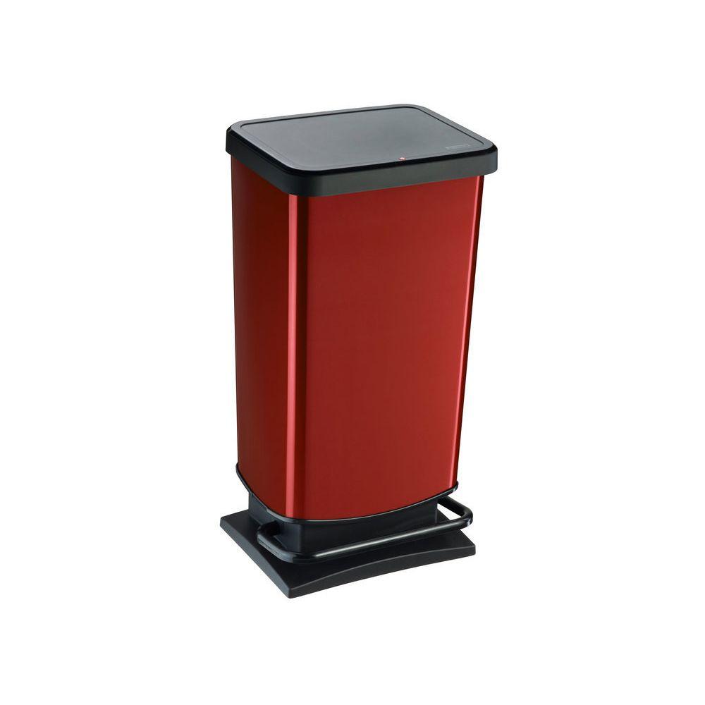 Sundis Poubelle de cuisine à pédale en polypropylène 40L H.67.6cm PASO - Rouge