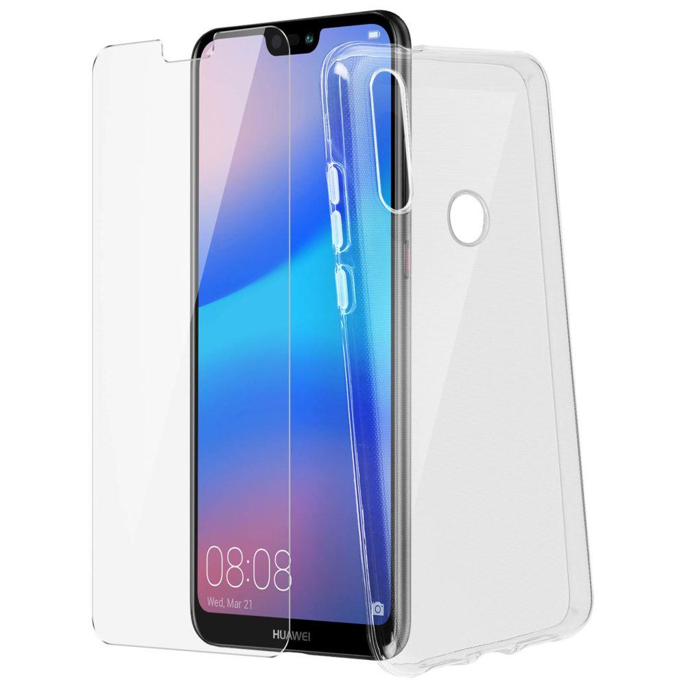 Avizar - Coque Arrière Film Verre Trempé Transparent Huawei P20 ...