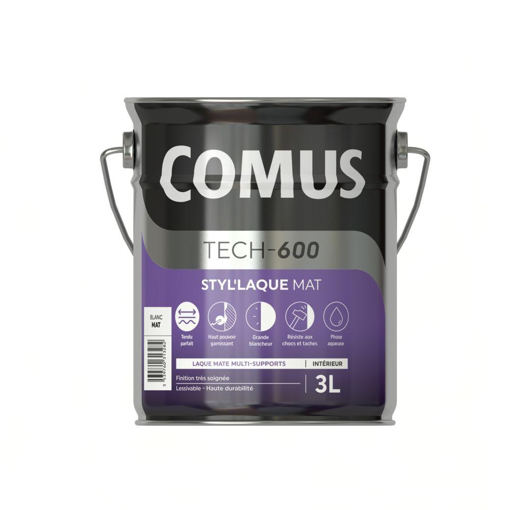 Comus STYL'LAQUE MAT 3L - Peinture laque mat multi-supports - COMUS