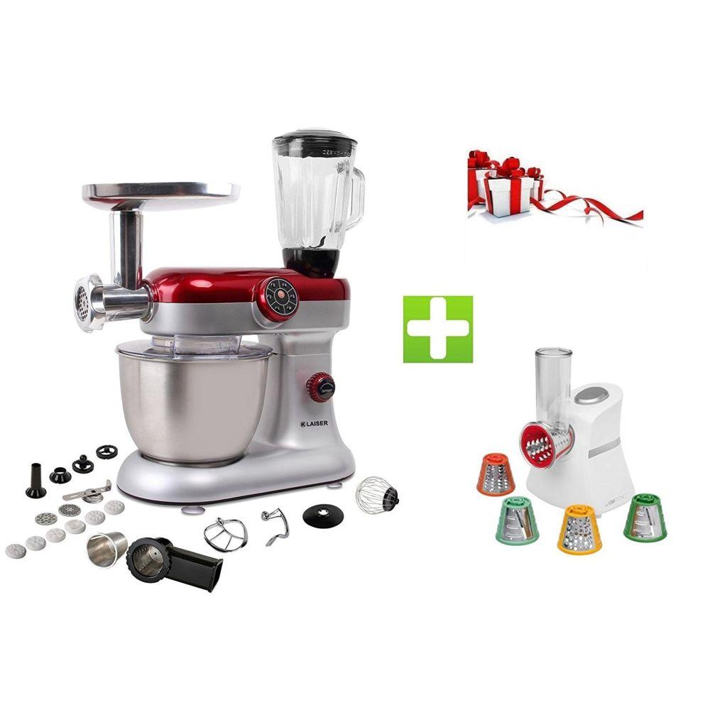 Klaiser KLAISER Pack Robot Pétrin Pâtisser Multifonctions Kitchen MIX KM284MEX Professional avec Magic Hachoir Multi Express
