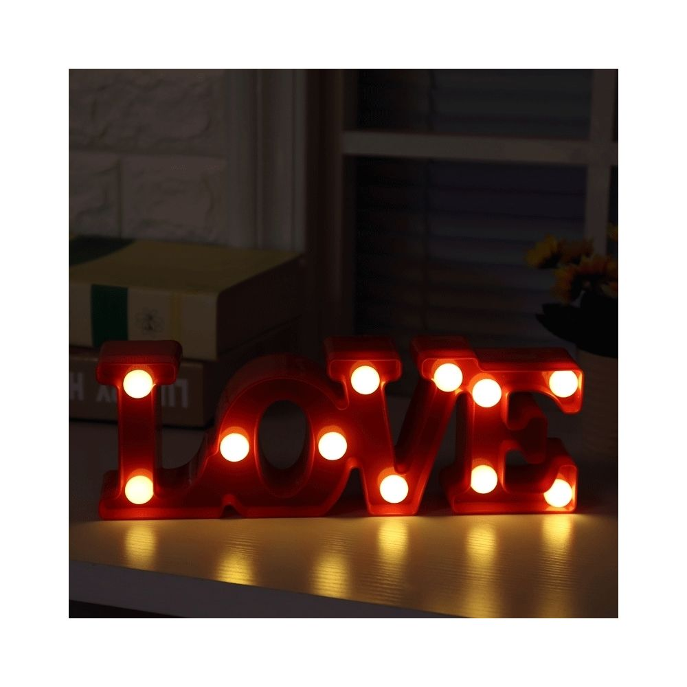 Wewoo Creative Love forme blanche chaude décoration LED, 2 x piles AA Powered Party Festival Table Wedding Lamp Night Light (r