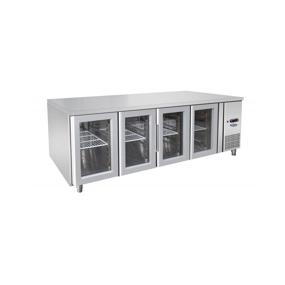 Atosa Table Réfrigérée Positive GN 1/1 de 4 Portes Vitrées - 560 L - Atosa - R290 4 Portes