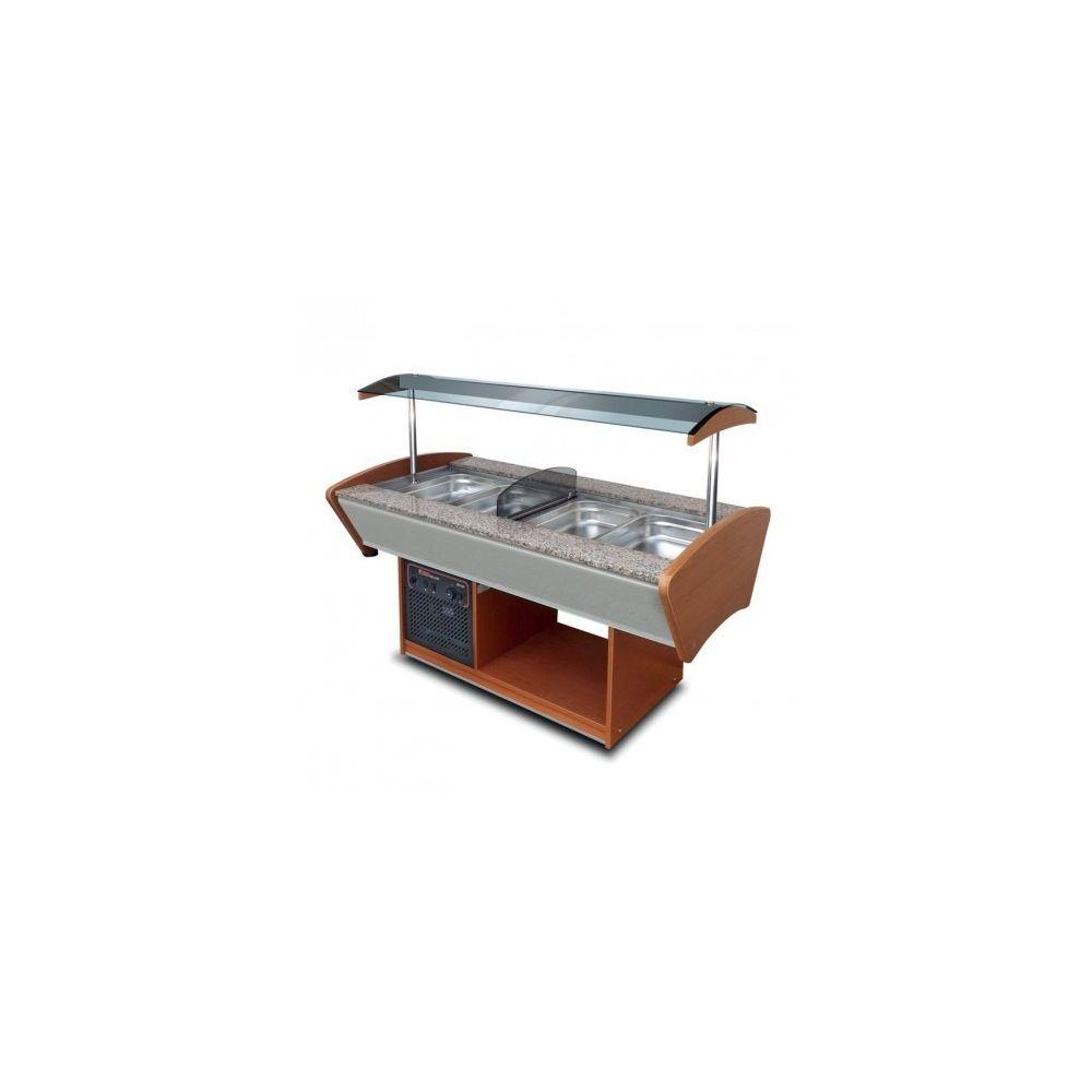 Furnotel Buffet de service mixte central professionnel réfrigéré 4 bacs GN 1/ 1 - Furnotel -