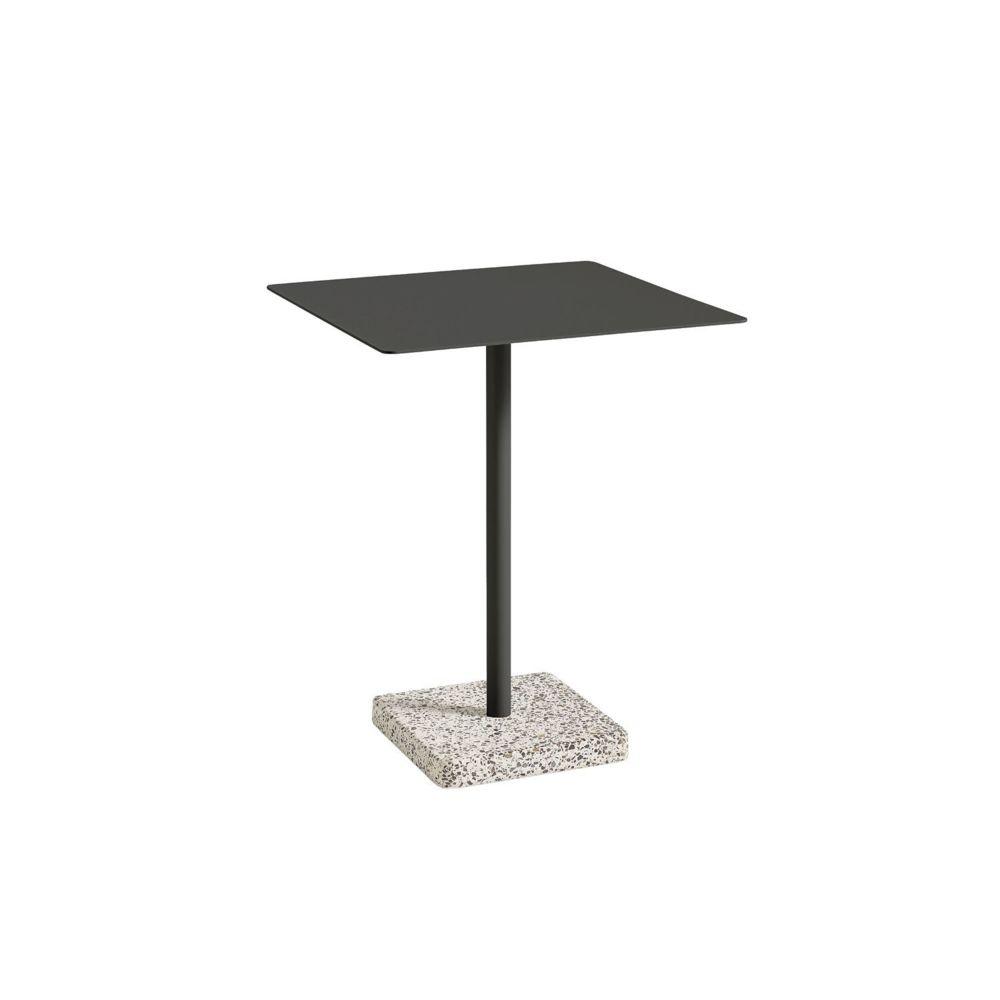 Hay Table de jardin Terrazzo - Terrazzo gris - carré 60 x 60 cm - gris foncé
