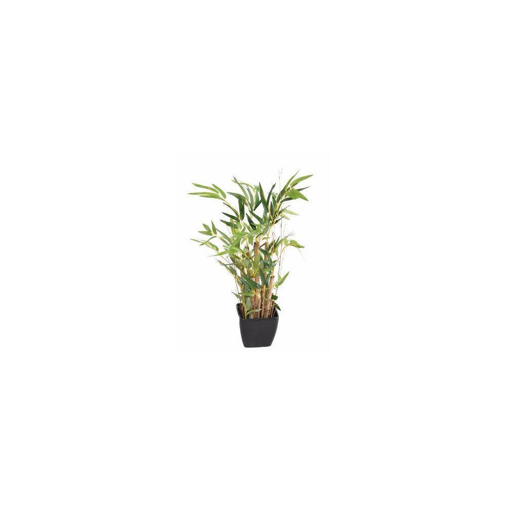 Artificielflower Bonsaï artificiel mini bambou en pot PVC carré - plante artificielle d'intérieur - H.50cm