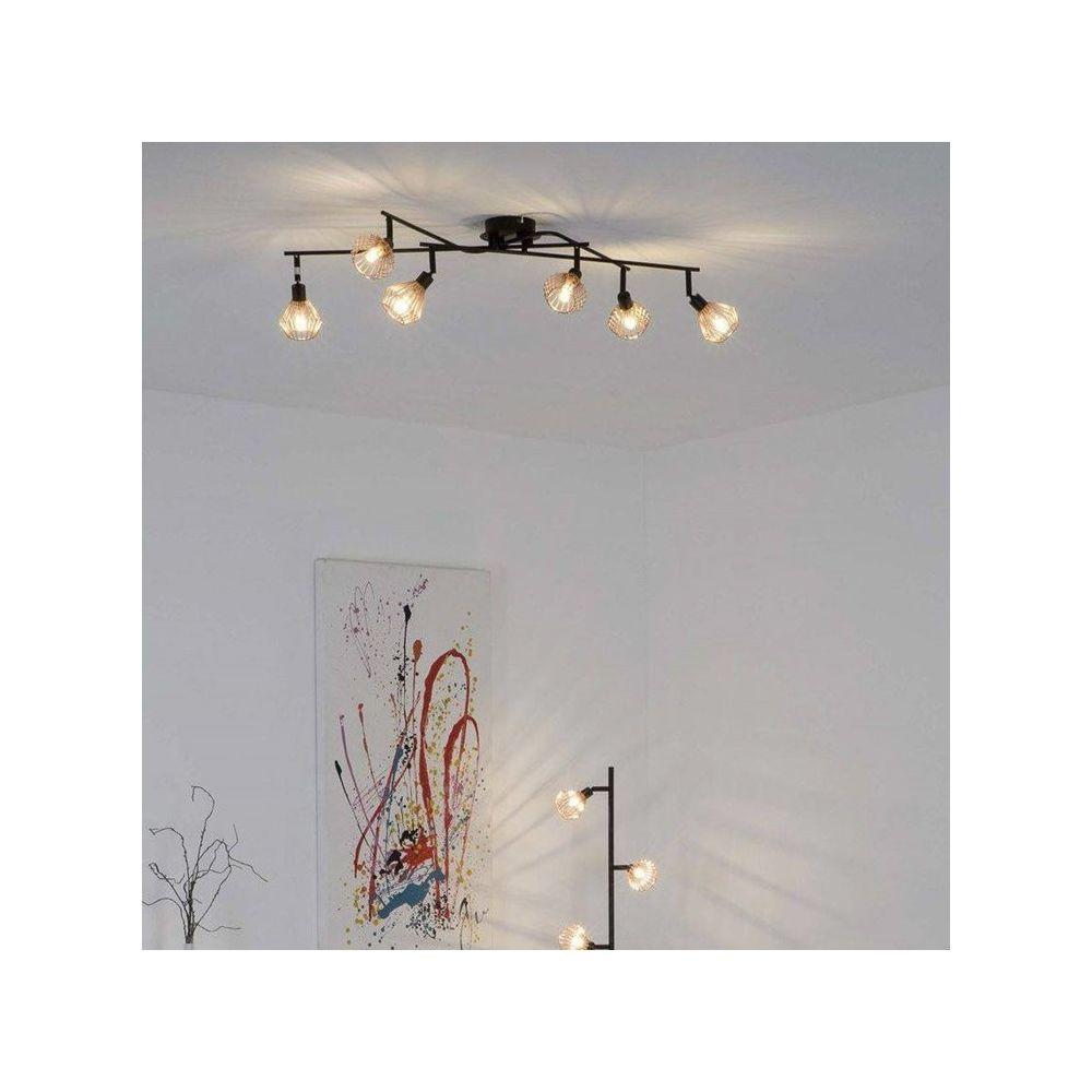 Plafonniers Lampe Lumière Éclairage 6er Spot Dalma Noir Mat Neuf