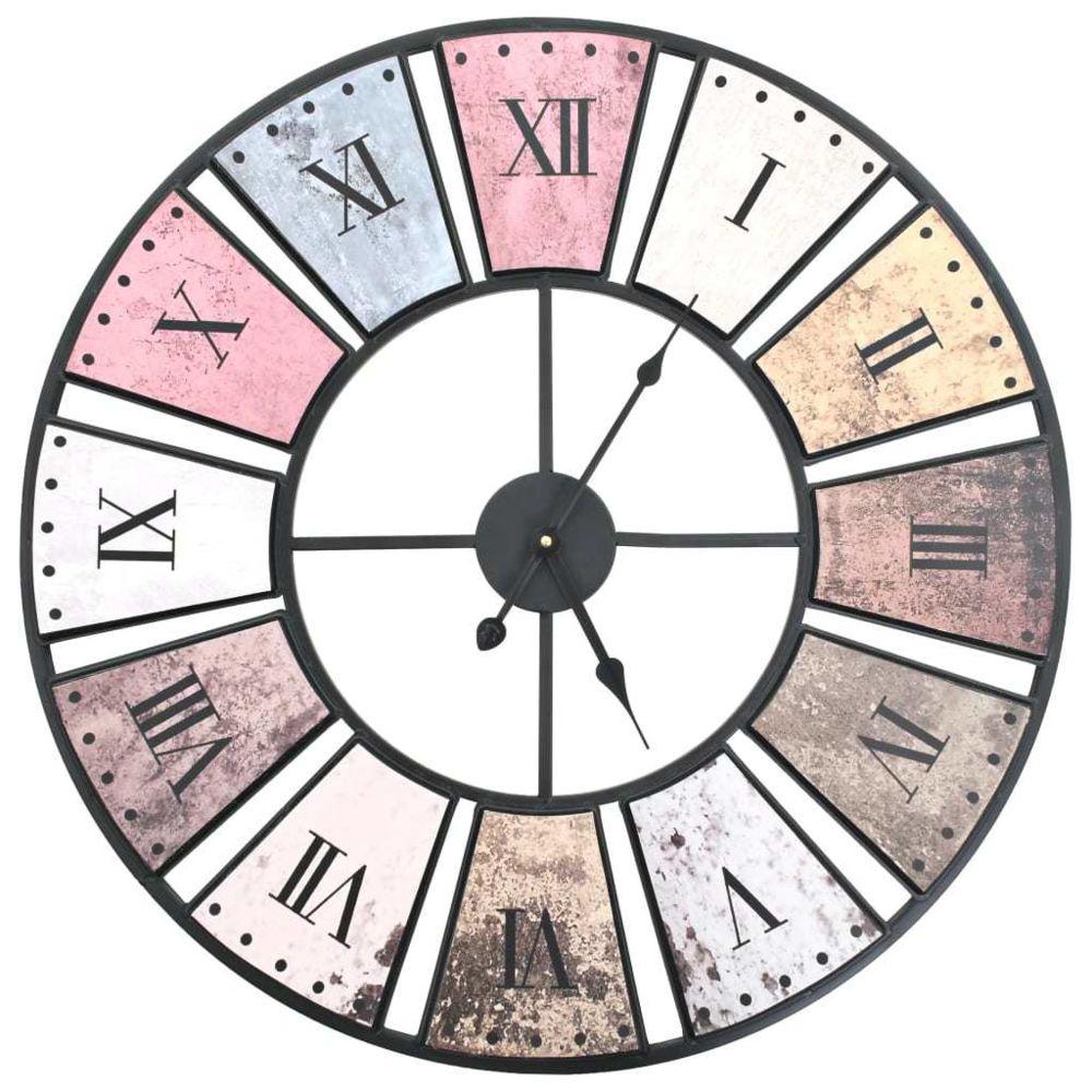 Vidaxl Horloge murale vintage avec mouvement à quartz 60 cm XXL - Horloges - Horloges murales   Multicolore   Multicolore