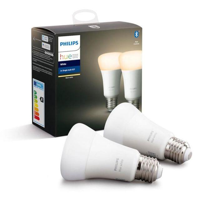 PHILIPS HUE - White - Pack de 2 ampoules 9.5W E27