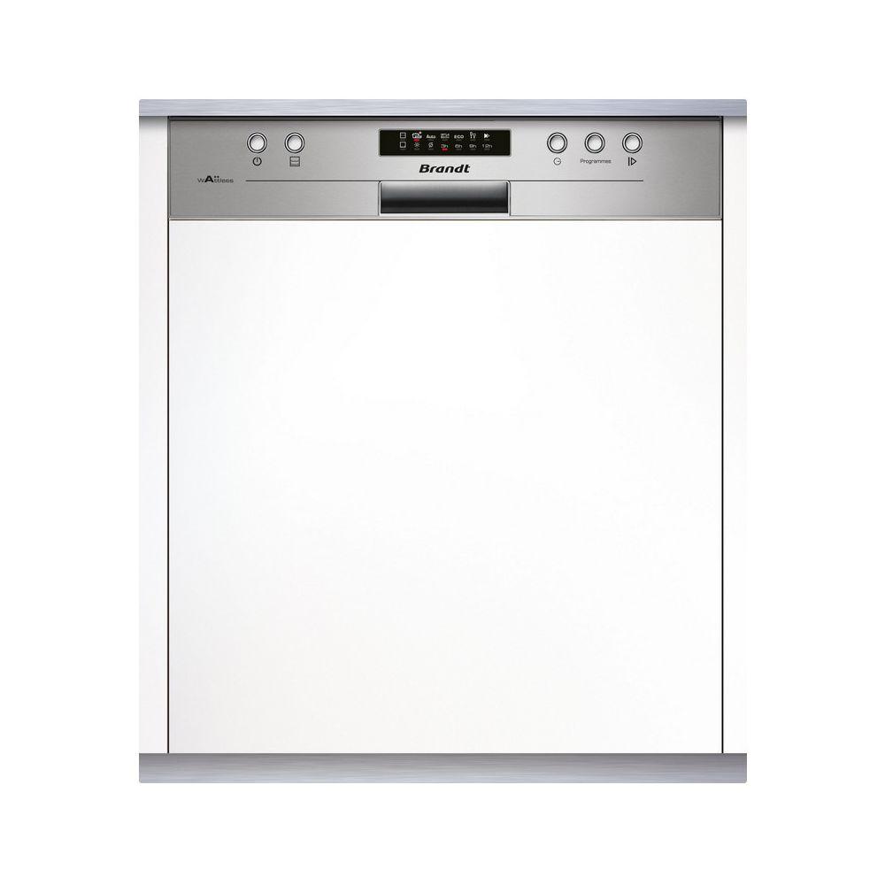 Brandt brandt - lave-vaisselle 60cm 14c 44db a++ intégrable avec bandeau inox - vh1704x