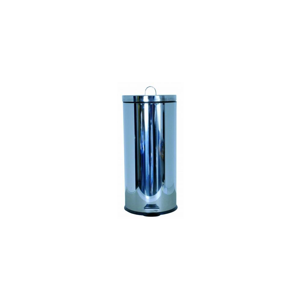 Msv Poubelle inox miroir 30 litres