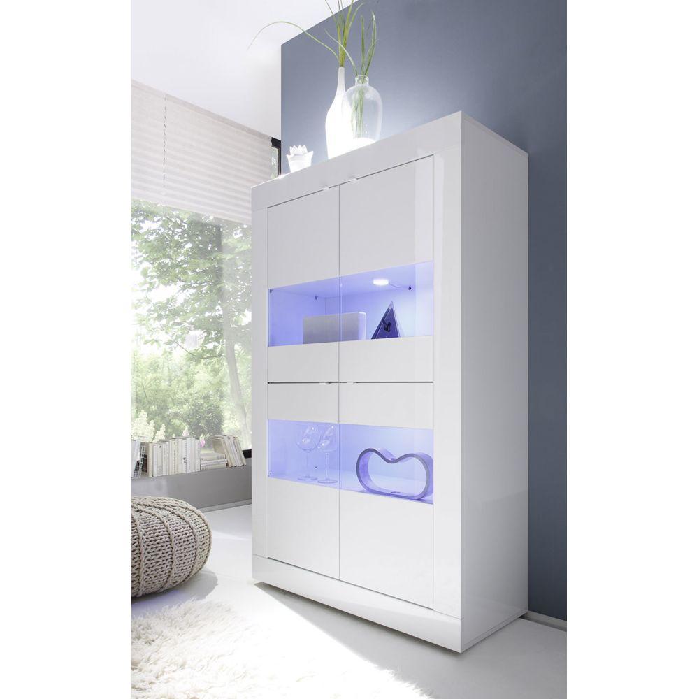 Sofamobili Vaisselier blanc laqué design FELINO