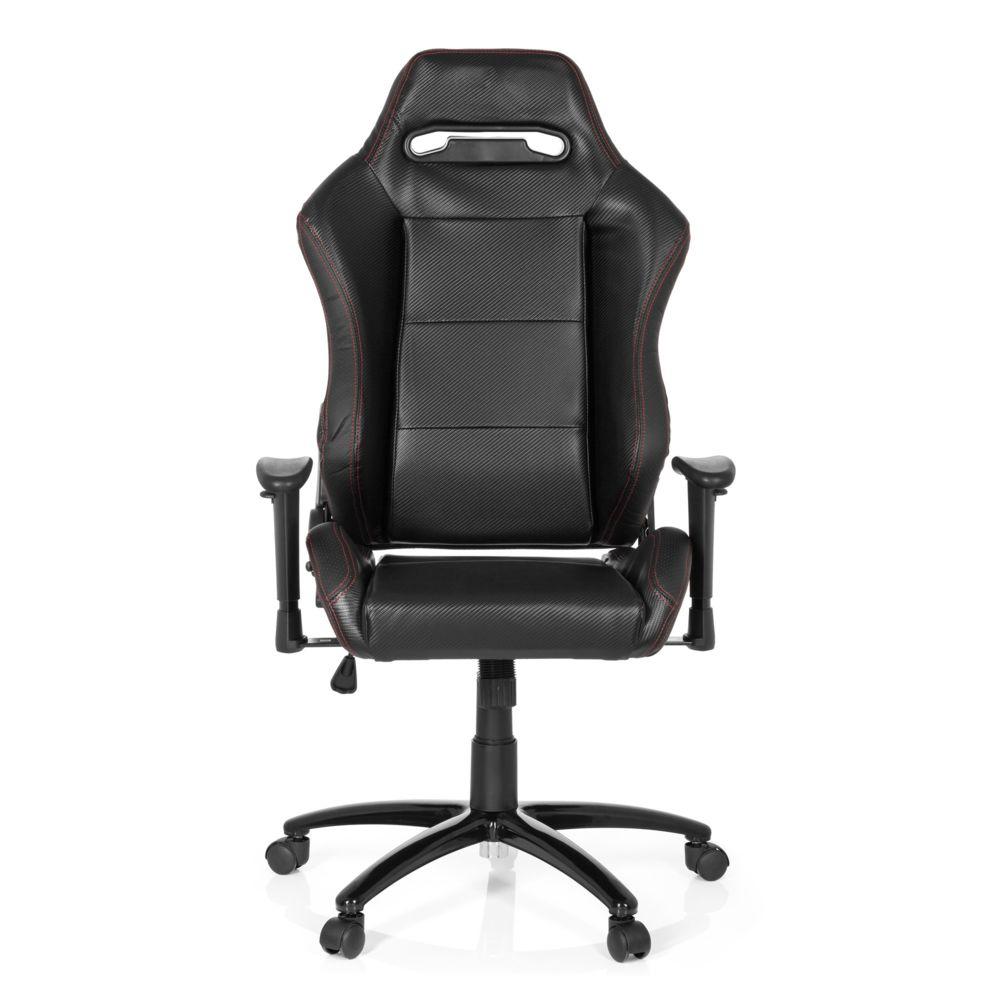 Hjh Office Chaise gaming / Chaise de bureau siège baquet simili cuir SILVERSTONE II noir hjh OFFICE