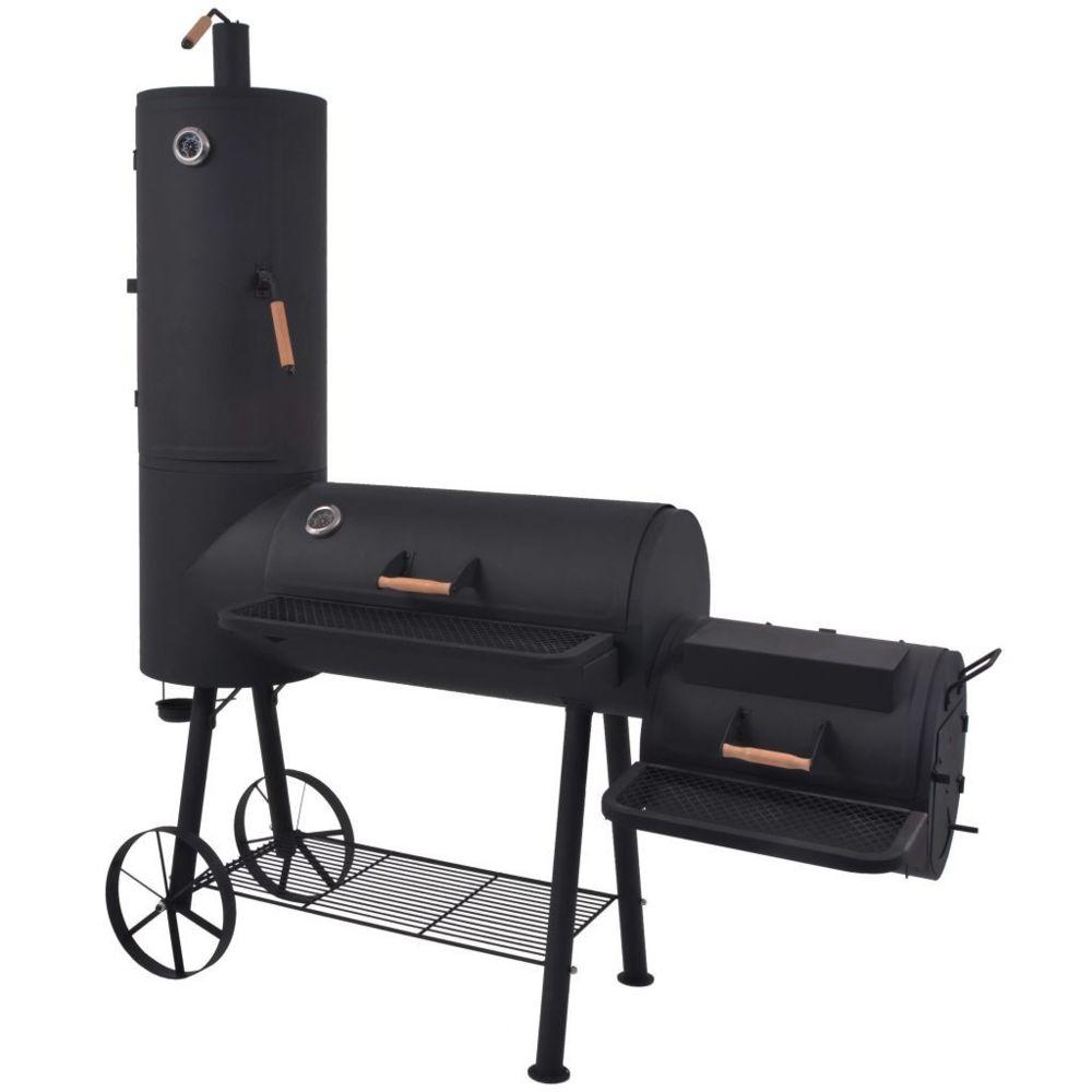 Vidaxl Barbecue au charbon de bois avec étagère inférieure Noir XXL - Électroménager de cuisine - Grils d'extérieur | Noir | No
