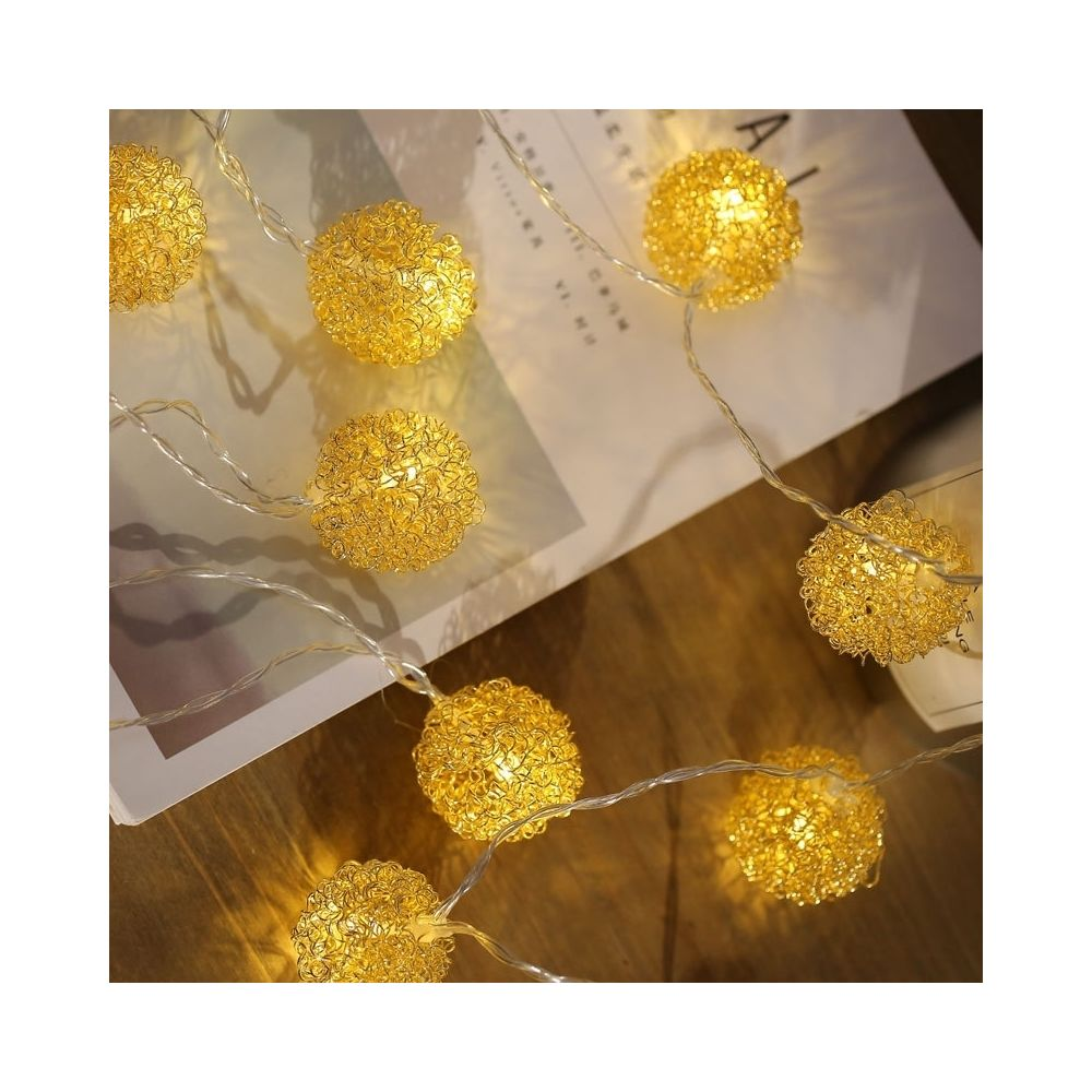 Wewoo Guirlande LED 3m fer boule de fil d'or USB prise romantique chaîne vacances lumière, 20 LEDs adolescente style chaleureu
