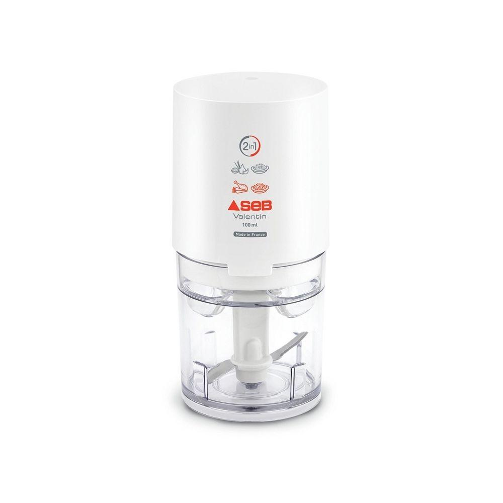 Seb Mini hachoir électrique Valentin - 2 en 1 - Blanc - SEB