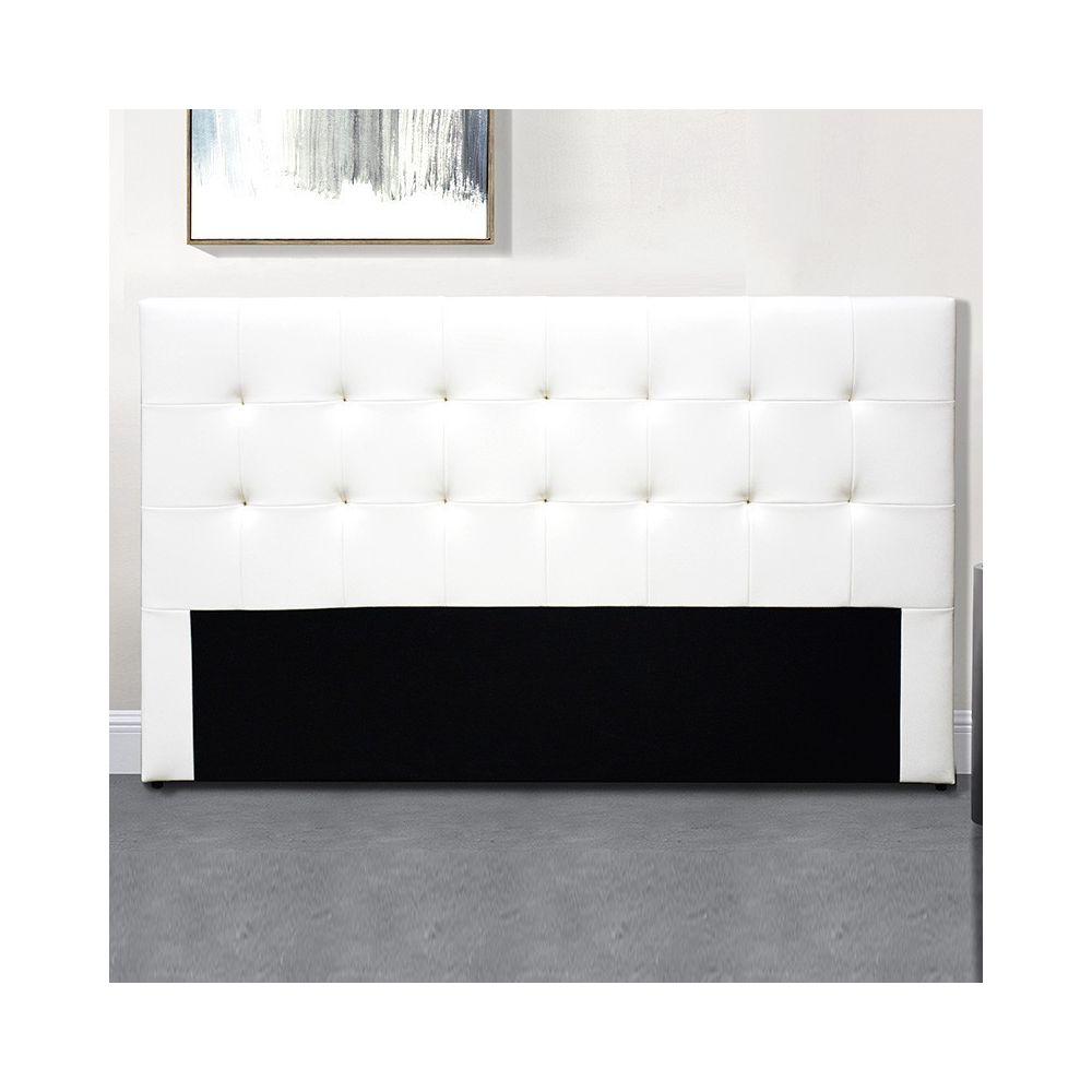 Meubler Design Tête De Lit Capitonnée Capitole - Blanc tête de lit - 160 cm