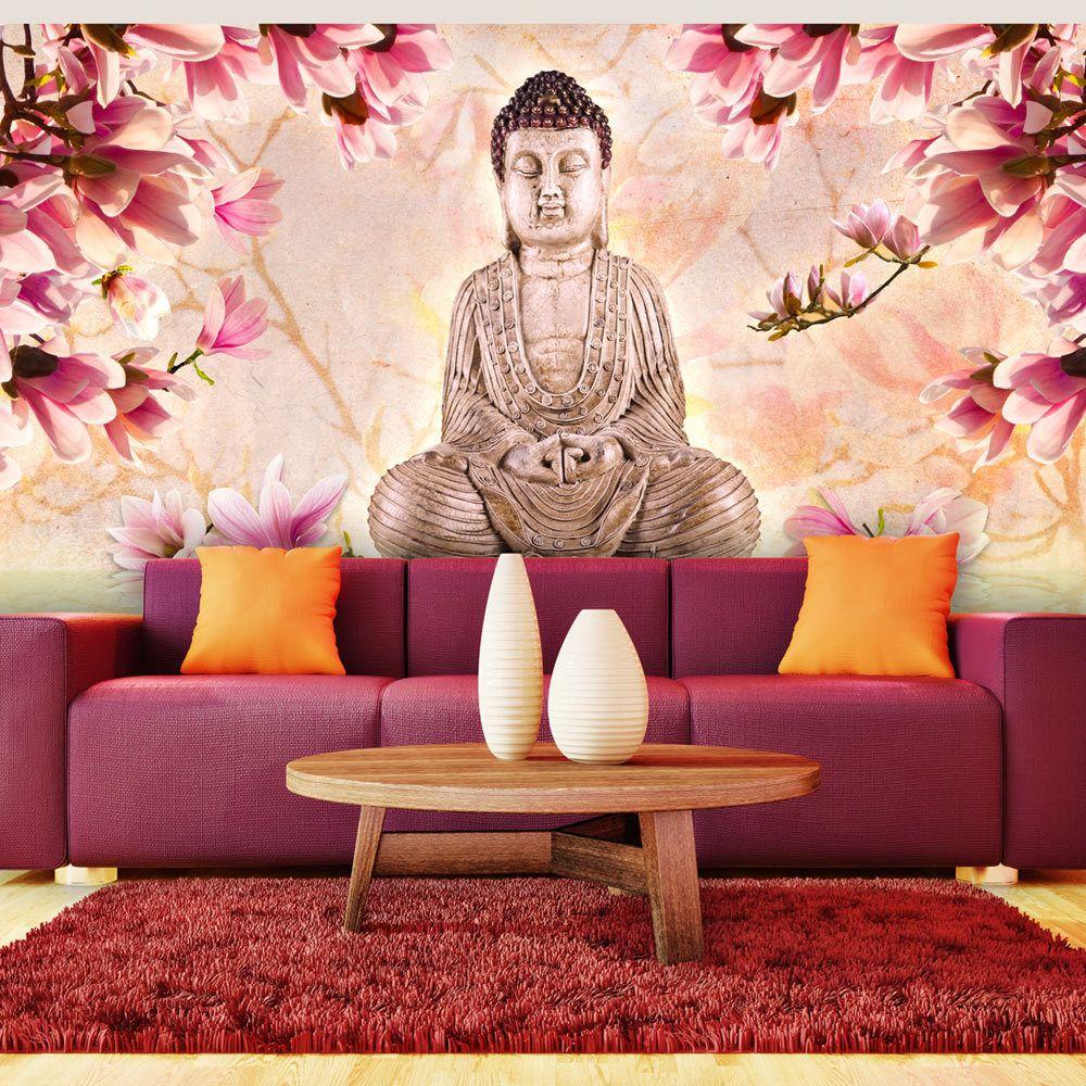 Declina Papier peint XXL - Bouddha et magnolia