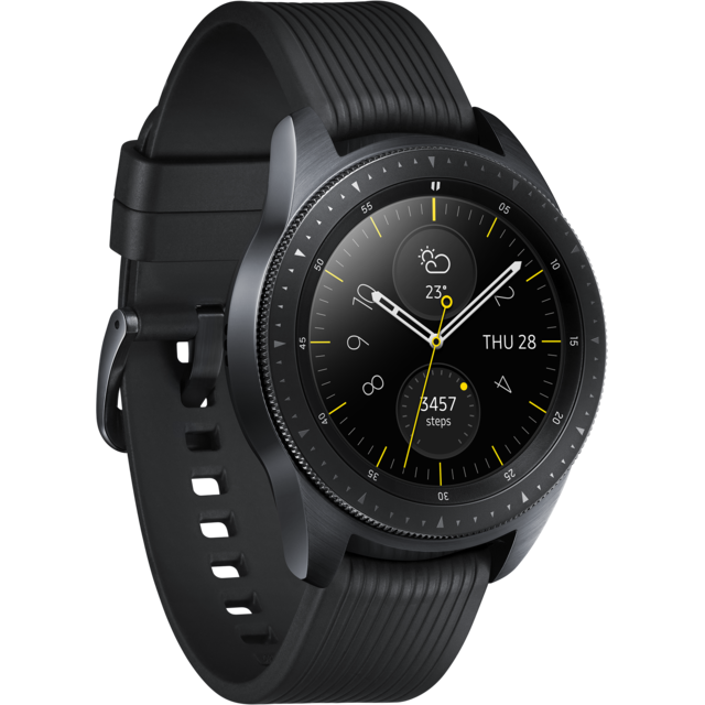 Samsung - Galaxy Watch - 42 mm - Noir Carbone - Objets connectés reconditionnés
