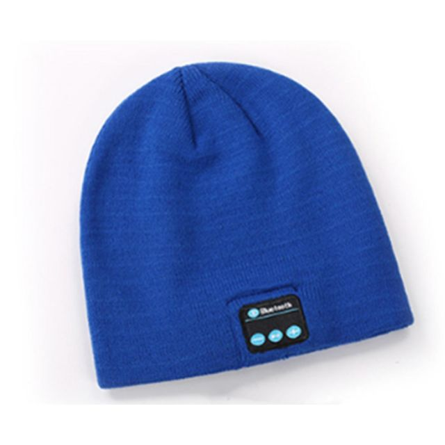 marque generique - YP Select Bluetooth Hat Bluetooth Beanie Hat with Bluetooth 5.0 Built-in Stereo Mic Fit for Outdoor Sports-Bleu - Ecouteurs intra-auriculaires