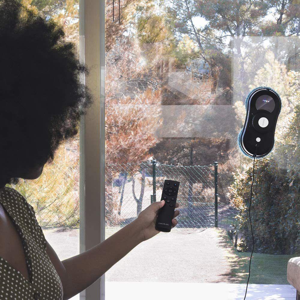Cecotec Robot lave-vitres intelligent télécommandé avec APP Control noir gris