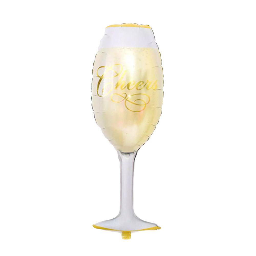 Marque Generique Champagne Bouteille De Vin Ballons Joyeux Anniversaire Fete Decoration Papier D Aluminium Objets Deco Rue Du Commerce