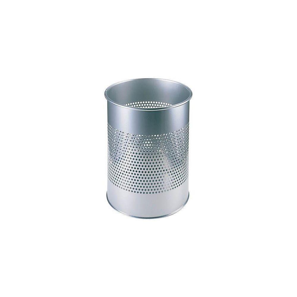 Durable Corbeille à papier métal déco gris argent
