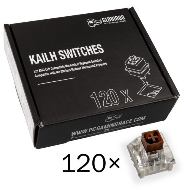 Glorious Pc Gaming Race - Pack de 120 switchs MX Kailh Brown - Glorious Pc Gaming Race