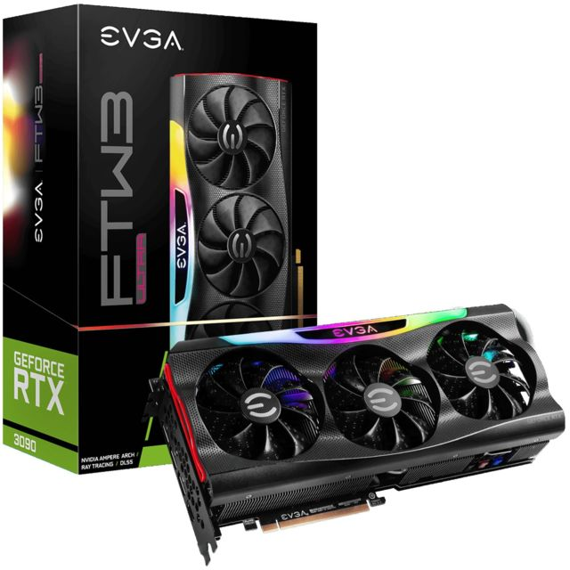 Evga - GeForce RTX 3090 FTW3 ULTRA GAMING - Triple Fan - 24Go - Carte Graphique NVIDIA