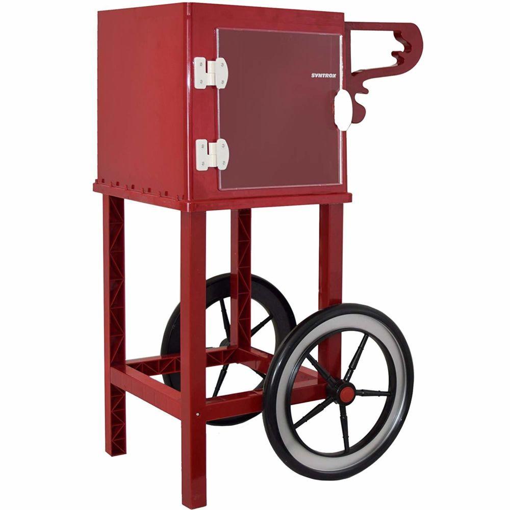 Syntrox Germany Chariot à base de pop-corn pour machine à pop-corn avec deux pneus