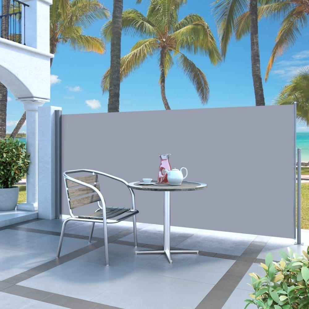 Vidaxl Auvent latéral rétractable 120 x 300 cm Gris - Pelouses et jardins - Vie en extérieur - Parasols et voiles d'ombrage | G