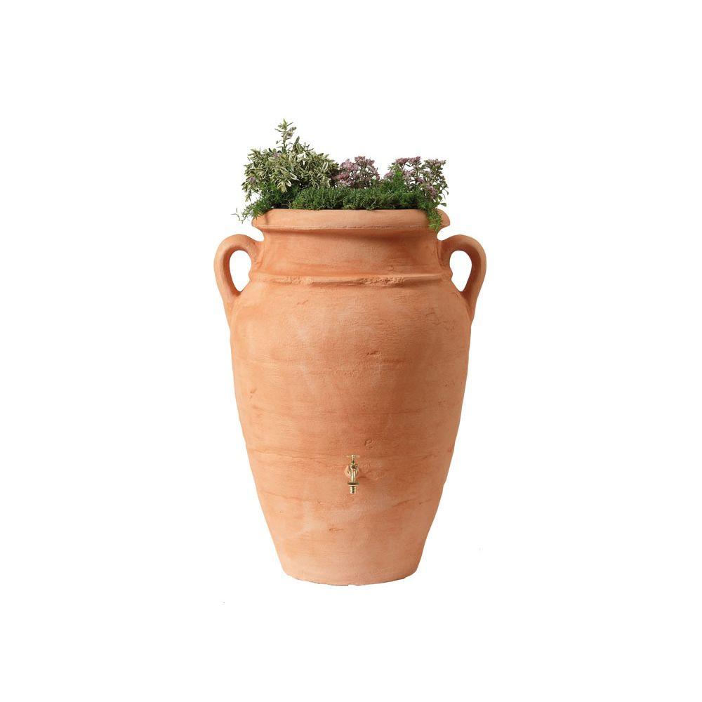 Garantia Kit Amphore Antik - Bac à plantes + collecteur + robinet - 600 L Terracotta