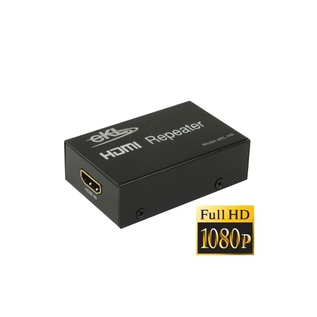 Wewoo - Amplificateur noir Répéteur d'amplificateur HDMI Full HD 1080p, version 1.3 - Ampli