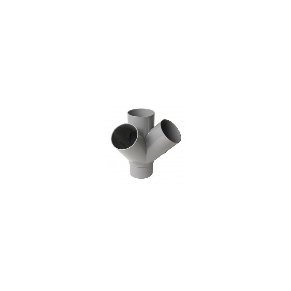 Nicoll 'Culotte double équerre 45° MF PVC pour tube d'évacuation gris - Ø 100 mm'''