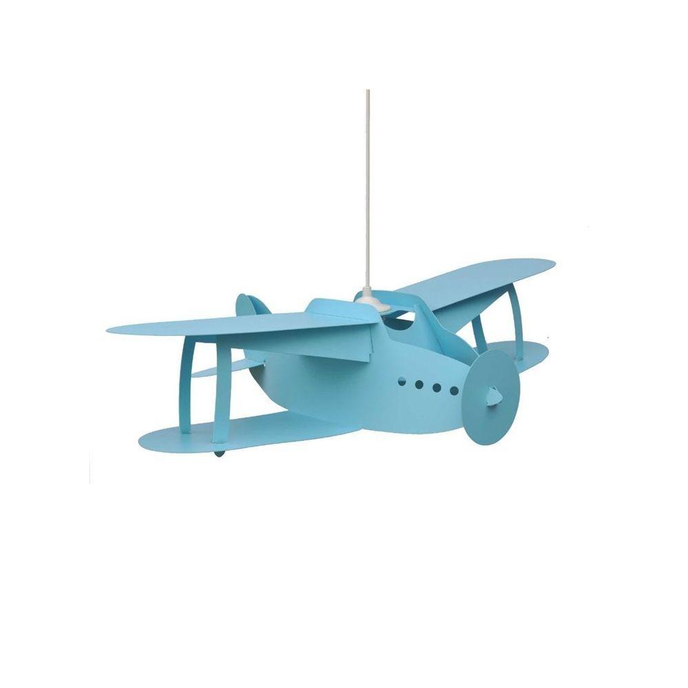 Rosemonde Et Michel AVION BIPLAN-Suspension H15cm turquoise Rosemonde et Michel Coudert - designé par Rosemonde et Michel Coudert